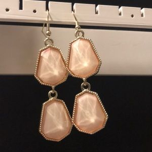 Peach & gold earring